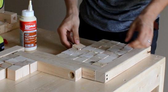 coller les cubes
