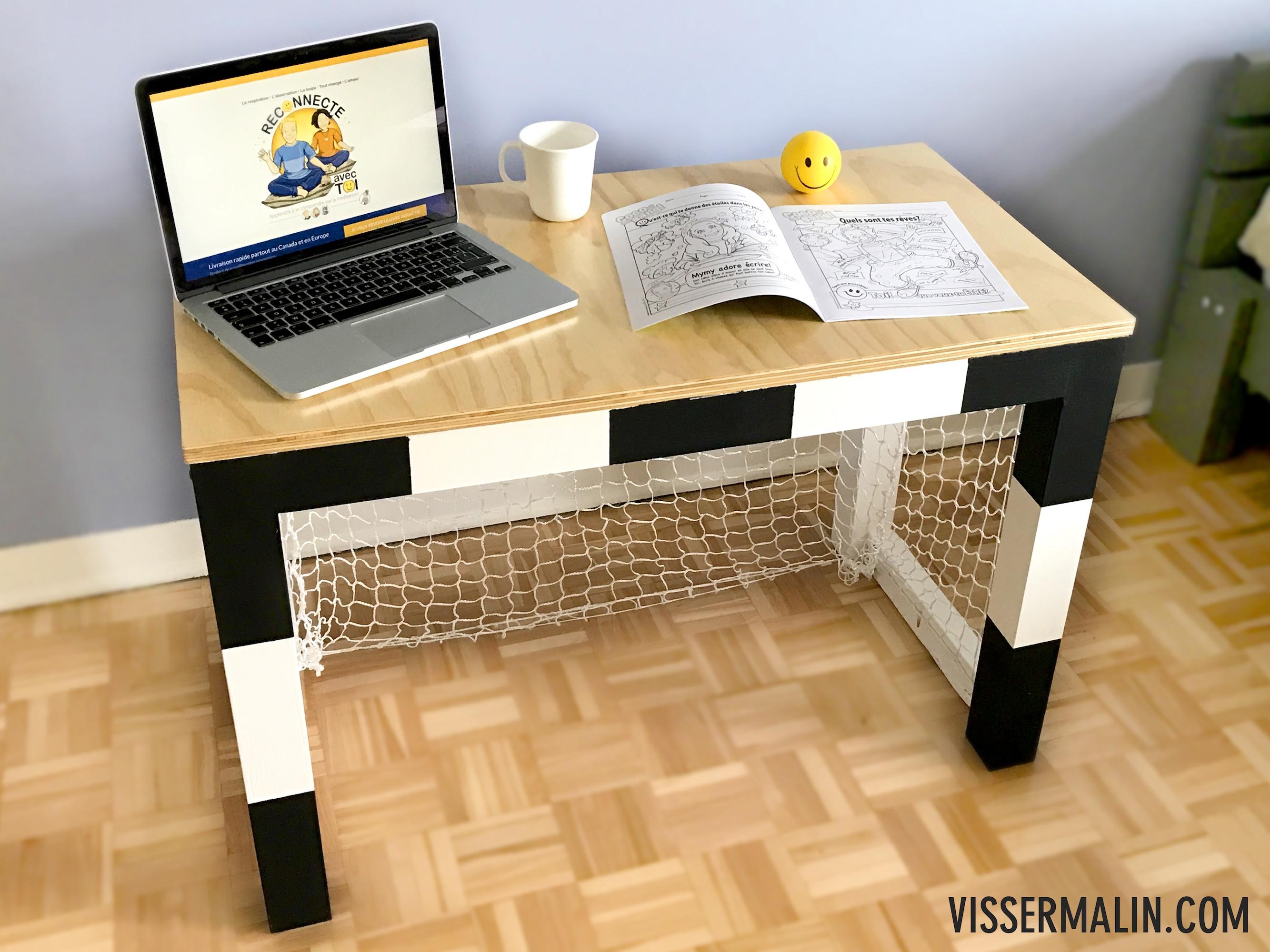 Comment faire un bureau en cage de foot pour enfant